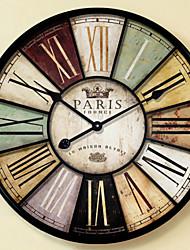 Reloj de pared - Hierro/Madera - Tradicional/Retro - Hierro/Madera