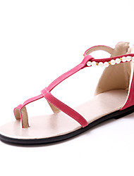 Women's Shoes Flat Heel Slingback/Comfort Sandals Outdoor/Office & Career/Dress/Casual Black/Red