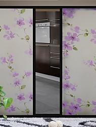 фиолетовый цветок стеклянная дверь стикер оконная пленка&наклейки (100 * 90см)