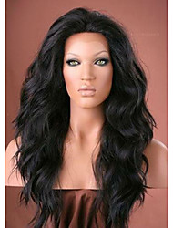 18inch Natural Wavy Brazilian Human Hair Natural Color Lace Front Wig