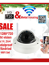 Dome IP Camera 720P IR-Cut Night Vision Motion Detection P2P Wireless