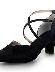 Sapatos de Dança ( Preto/Castanho/Vermelho/Prateado ) - Mulheres - Não Personalizável - Moderno