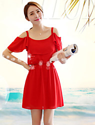 Women's Casual / Cute Dress Above Knee Chiffon