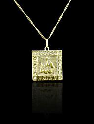 18K plaqué or véritable allah musulman pendentif zircon 3,3 * 2.3cm