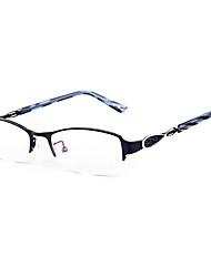 [Free Lenses] Women's Metal Rectangle Half-Rim Fashion Prescription Eyeglasses