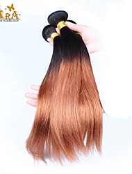 3pcs lot Brazilian Ombre Hair Straight Two Tone Ombre 1b/30 Color Human hair weave straight hair