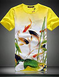 Man's summer  Chinese wind short-sleeved t-shirts man new big yards men's short sleeve T-shirt