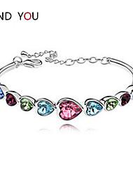 Women's Chain/Tennis Bracelet Cubic Zirconia/Alloy/18K Gold Plated Crystal/Rhinestone/Cubic Zirconia