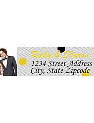 Personalized Product Labels / Address Labels Spot Pattern Of Film Paper 140pcs/set