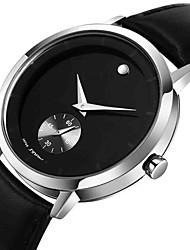 Sinobi Men's Steel Case Leather Band Water Resistant Quartz Analog Wrist Watch (Assorted Colors)