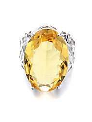 Brass Ladies New CZ Fashion Ring(More Colors)