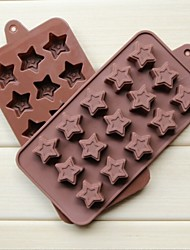 Fashion Silicone Chocolate Ice Jelly Cake Decorating Mold Kitchen Bakeware Cooking Mould Tools(Random Color)