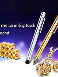 w0056 1шт золотой DIY магнитный ручка с пополнения&стальные шарики