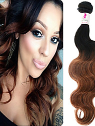 "3 Pcs/Lot 12""-26"" 100% Mongolian Unprocessed Virgin Human Hair #1B-30 Color Ombre Body Wave Hair Weaves"