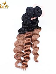 "3Pcs/Lot 10""-30"" Indian Virgin Hair Color 1B30 Loose Wave Human Hair Weaves"