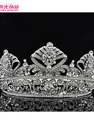 Neoglory Jewelry Clear Austrian Rhinestone Bridal Wedding Full Round Tiara Crown Accessories
