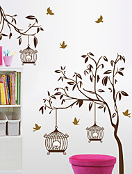 Wall Stickers Wall Decals, Tree and Bird Cage  PVC Wall Stickers