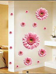стикеры стены наклейки на стены, розовые маргаритки стикеры стены PVC