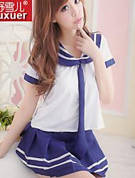 Ultra Sexy Uniformes & Tenues Chinoises Vêtement de nuit Femme Coton Bleu