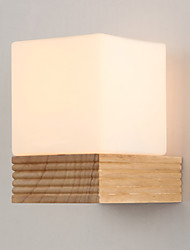 Brief Wooden Bedside Lamp Japanese Style Wall Lamp Balcony Aisle Lights Solid Wood Wall Lamp Bed-Lighting