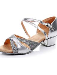 Non personalizzabile Donna/Bambino Scarpe da ballo Latinoamericano Eco-pelle Tacco spesso Argento/Oro
