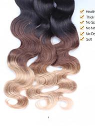 Омбре Перуанские волосы Естественные кудри волосы ткет