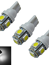 JIAWEN® 3pcs T10 1W 5X5050SMD 70-90LM 6000-6500K Cool White  LED Car Light (DC 12V)