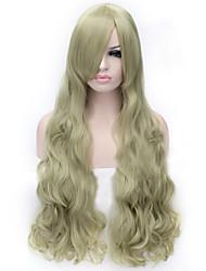 cocplay vendre les nouveaux bouclés perruque de cheveux perruques de cheveux de nylon vert clair de haute qualité