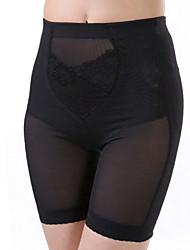 bragas de cintura cincher / pantalones de poliéster / spandex bordado negro sexy ropa interior de la talladora