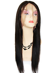 Good Quality Brazilian virgin Hair Lace Wig Bleached Knots Straight Glueless Full lace Human Hair Wigs For Black Women