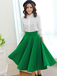 Women's Solid Color High Waist Pleated Skirts(More Colors)
