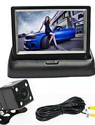 RenEPai® 4.3 Inch Folding Display Monitor + 170°HD Car Rear View Camera +  Wide Angle Waterproof Camera