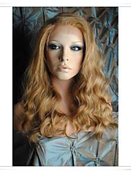 """cinderella blonde 8 """"-22"""" 100% zuivere menselijke haar wave full lace front pruiken lwg004 foto kleur nummer 27/613/30 lengte 16 """""""