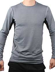 Men's 1029 PRO Sport Tight Quick Dry Anti-sweat Long Sleeve Cycling Jersey Top - Gray