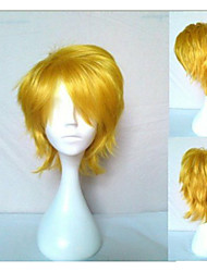 New Arrival Blonde Cosplay Wigs  Synthetic Hair Wig Short Curly Natural Animated Wigs Party Wigs