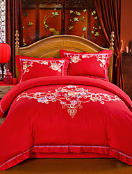Married Silk Cotton Jacquard Bedding Four Pieces