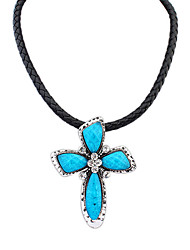 Women's Choker Necklaces Resin Alloy Cross Punk Coffee Red Green Blue Jewelry Casual 1pc