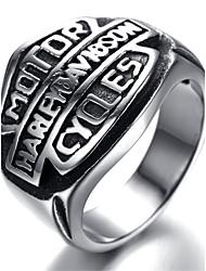 Homens de aço inoxidável anel Viantage Biker prata Motor HR5434