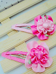 Girls Flowers Hair Accessories Clips & Claws 1 Pairs(Random Color)