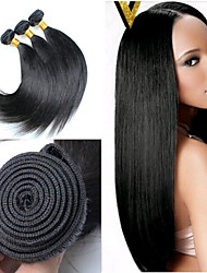 3Pcs/Lot 8inch-30inch Brazilian Hair Color(natural black) Straight Hair