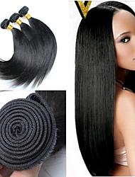 3pcs / lot 8inch-30inch colore dei capelli brasiliani (nero naturale) capelli lisci