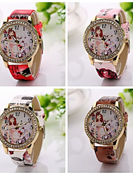 New  Fashion Classic Casual Style Watch Luxury Leather Band  Quartz Watch rhinestone Girls  Watch Cool Watches Unique Watches