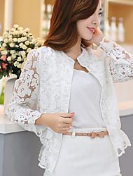 Women's Vintage Casual Cute Medium Long Sleeve Regular Jacket (Lace)