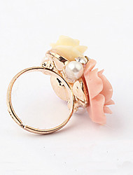 Ring Adjustable Party Jewelry Alloy / Rhinestone Women Statement Rings 1pc,One Size Silver