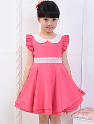Girl's Summer Micro-elastic Thin Sleeveless Dresses