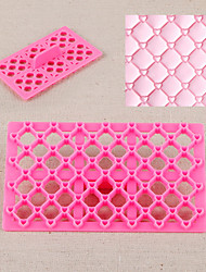 Heart Quilt Fondant Square Cutter Lattice Cake Cupcake Embossing Tool Embosser