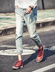 ST.ANTONIO ™ Men's Casual Straight Nine minutes of pants High-Quality With Elastic Jeans