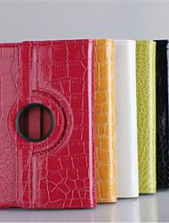 360⁰ Cases/Covers inteligentes ( Pele PU , Vermelho/Preto/Branco/Verde/Castanho/Laranja ) - Padrão Pele de Crocodilo -Para Maçãmini-iPad