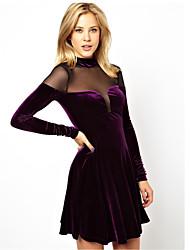 Beauty Women's Clothing Vestidos De Festa Big Swing Velvet Warm Autumn Dress Sexy Celeb Evening Party Dress 9043