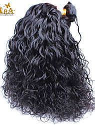 "4Pcs Lot 10-26"" Unprocessed Raw Peruvian Virgin Human Hair Weave Water Wave Color Natural Black Double Wefts"